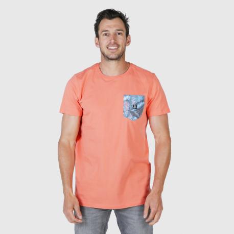 Pánské triko s krátkým rukávem Brunotti-Axle-Pkt-AO Mens T-shirt-0037-Bright Coral