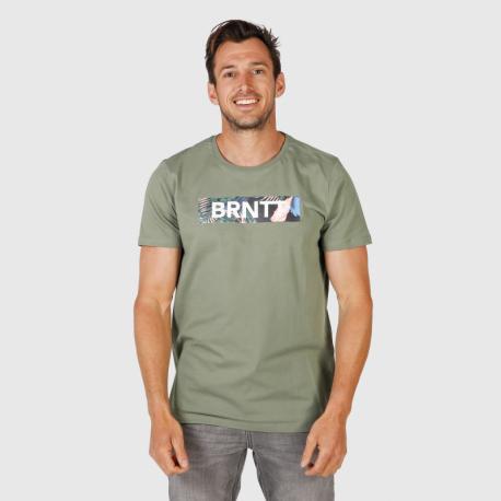 Pánské triko s krátkým rukávem Brunotti-Tyson Mens T-shirt-0760-Vintage Green