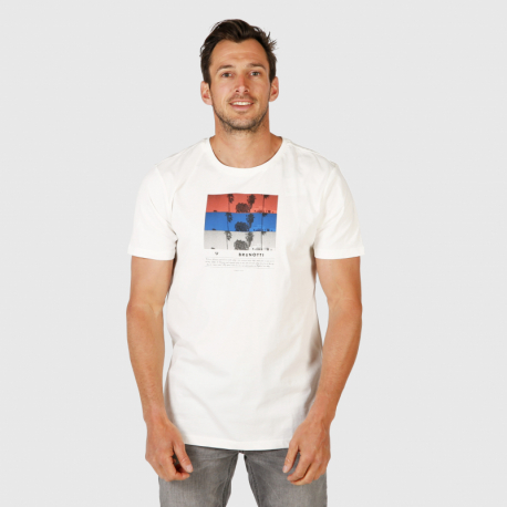 Pánské triko s krátkým rukávem Brunotti-Tanner Mens T-shirt-001-Snow