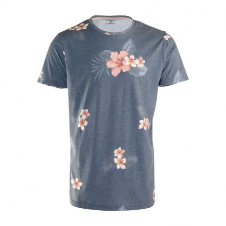 Pánské triko s krátkým rukávem Brunotti-Jason-Flower Mens T-shirt-0524-Jeans Blue