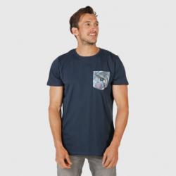 Pánské triko s krátkým rukávem Brunotti-Axle-Pkt-AO Mens T-shirt-0532-Space Blue