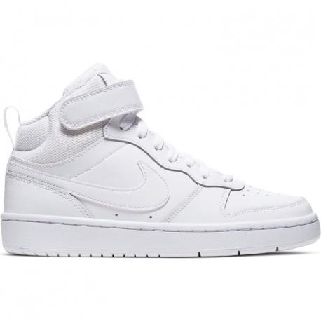 Juniorská vycházková obuv NIKE-Court Borough Mid 2 GS white / white / white