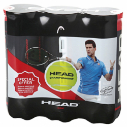 Tenisové míčky 3ks HEAD-3x3B HEAD CHAMPIONSHIP - NOVAK - 6DZ