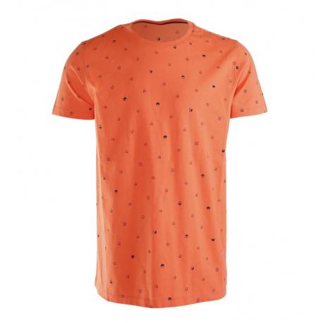 Pánské triko s krátkým rukávem Brunotti-Tim-Mini-AO Mens T-shirt-0037-Bright Coral
