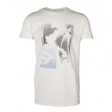 Pánske tričko s krátkym rukávom BRUNOTTI-Tim-Print Mens T-shirt-0470-Blue Wave