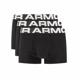 Pánske boxerky UNDER ARMOUR-UA Charged Cotton 3in 3 Pack-BLK