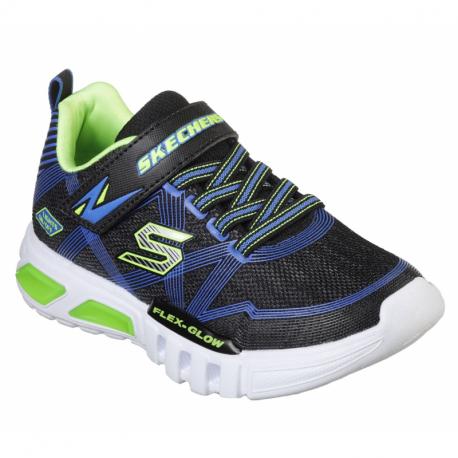 Detská rekreačná obuv SKECHERS-Flex Glow blue/lime