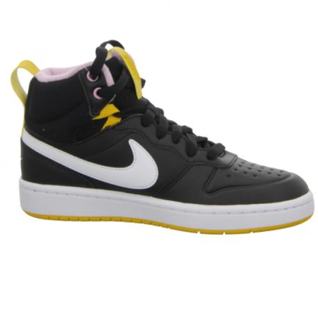 Juniorská vychádzková obuv NIKE-Court Borough Mid 2 Boot GS black/yellow/white