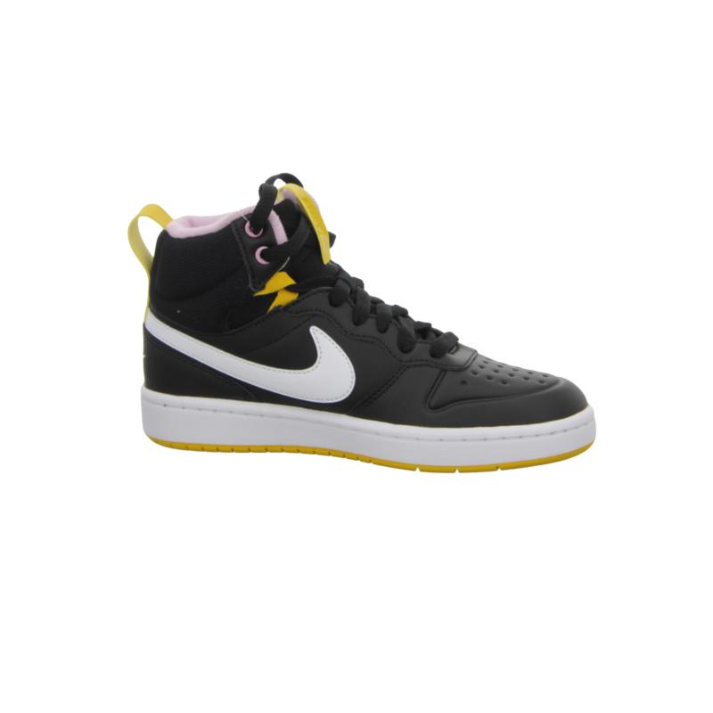 NIKE-Court Borough Mid 2 Boot GS black/yellow/white Čierna 37,5