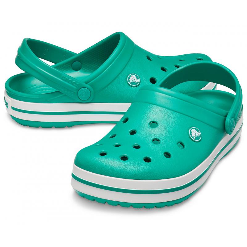 Kroksy (rekreačná obuv) CROCS-Crocband deep green/white -