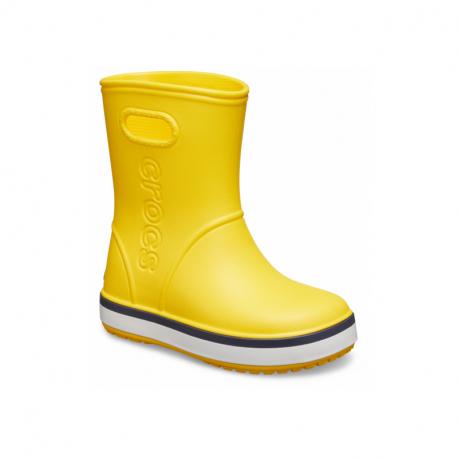 Dětské gumáky CROCS-Crocband Rain Boot K yellow / navy
