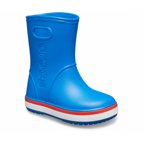 Dětské gumáky CROCS-Crocband Rain Boot K bright cobalt / flame