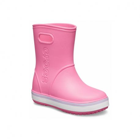 Dětské gumáky CROCS-Crocband Rain Boot K pink lemonade / lavender