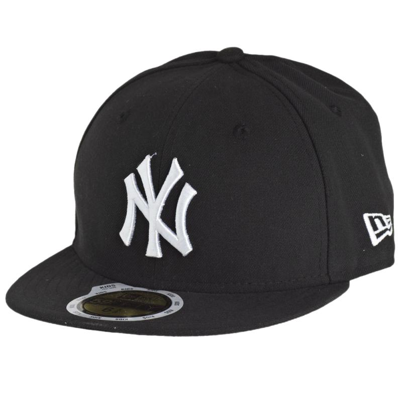 0fc6b76d0 Šiltovka NEW ERA-5950 MLB LEAGUE BASIC NY YANKEES BLACK/WHITE KIDS NO -