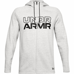 Pánska mikina so zipsom UNDER ARMOUR-UA BASELINE FULL ZIP HOODIE-GRY