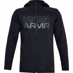 Pánska mikina so zipsom UNDER ARMOUR-UA BASELINE FULL ZIP HOODIE-BLK