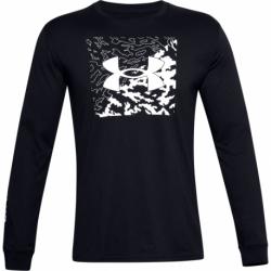Pánske tričko s dlhým rukávom UNDER ARMOUR-UA CAMO BOX LOGO LS-BLK