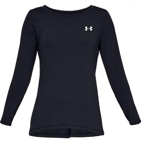 Dámske tréningové tričko s dlhým rukávom UNDER ARMOUR-UA HG Armour Long Sleeve-BLK