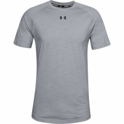 Pánske tričko s krátkym rukávom UNDER ARMOUR-UA Charged Cotton SS-GRY