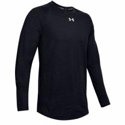 Pánske tričko s dlhým rukávom UNDER ARMOUR-UA Charged Cotton LS-BLK