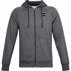Pánska mikina so zipsom UNDER ARMOUR-UA Rival Fleece FZ Hoodie-GRY