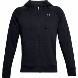 Pánska mikina so zipsom UNDER ARMOUR-UA Rival Fleece FZ Hoodie-BLK