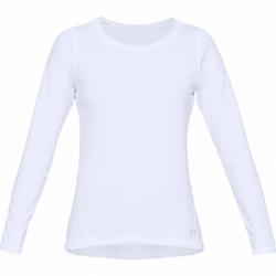 Dámske tréningové tričko s dlhým rukávom UNDER ARMOUR-UA HG Armour Long Sleeve-WHT