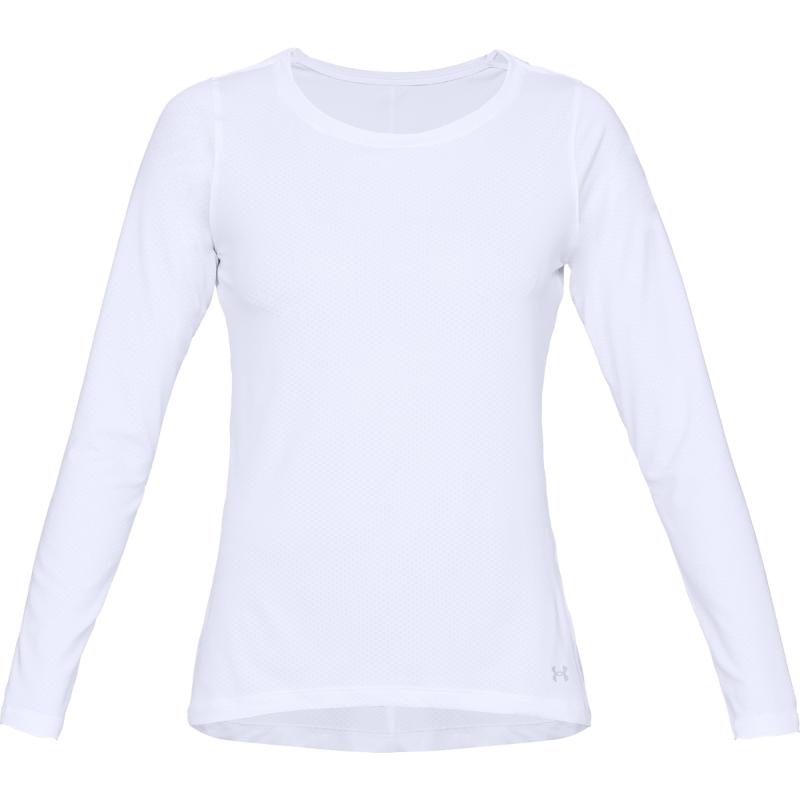 Dámske tréningové tričko s dlhým rukávom UNDER ARMOUR-UA HG Armour Long Sleeve-WHT -