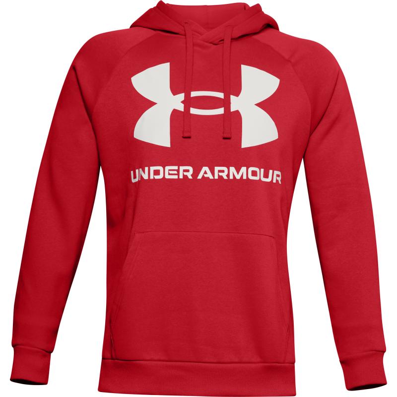 UNDER ARMOUR-UA Rival Fleece Big Logo HD-RED Červená M
