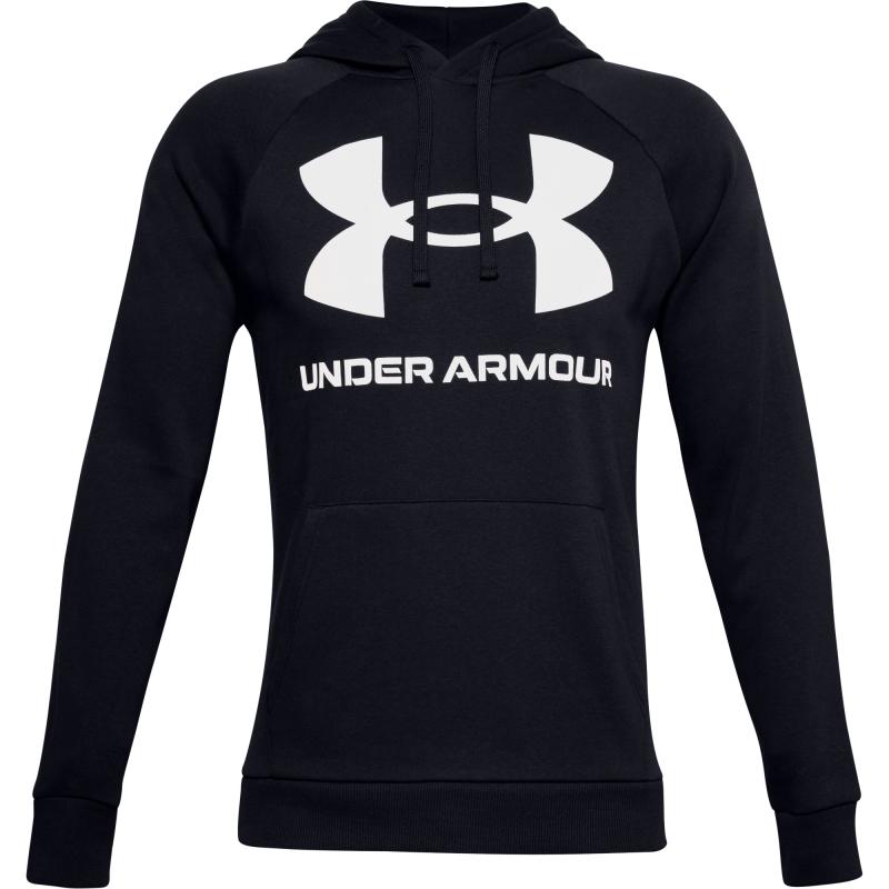 UNDER ARMOUR-UA Rival Fleece Big Logo HD-BLK Čierna S