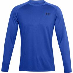 Pánské tréninkové triko s dlouhým rukávem UNDER ARMOUR-UA Textured LS-BLU