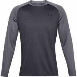 Pánské tréninkové triko s dlouhým rukávem UNDER ARMOUR-UA Textured LS-BLK