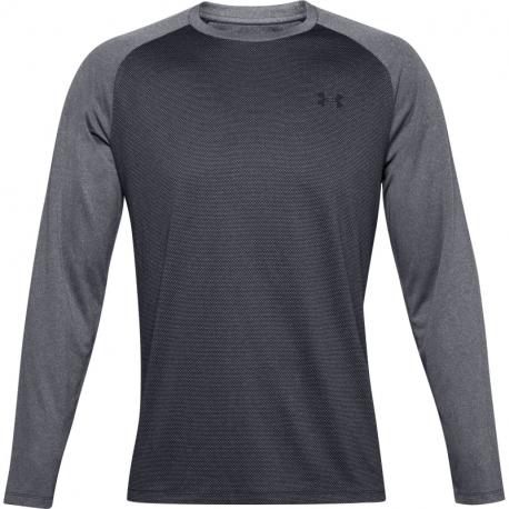 Pánske tréningové tričko s dlhým rukávom UNDER ARMOUR-UA Textured LS-BLK