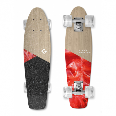 Skateboard STREET SURFING-BEACH BOARD WOOD BloodyMary