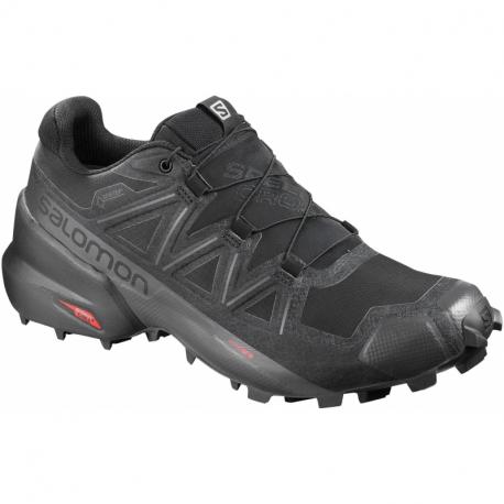 Pánska trailová obuv SALOMON-Speedcross 5 GTX black/black/phantom