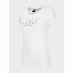 Dámske tričko s krátkym rukávom 4F-WOMENS T-SHIRT-H4Z20-TSD022-10S-WHITE