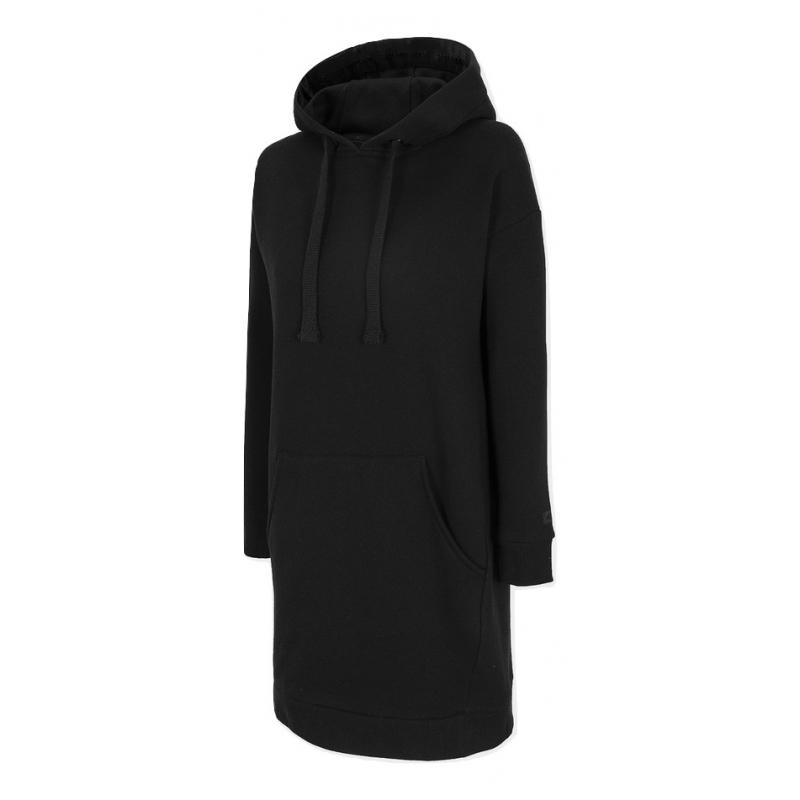 Dámska mikina s kapucňou 4F-WOMENS DRESS-H4Z20-SUDD011-20S-DEEP BLACK -