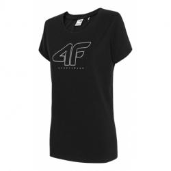 Dámske tričko s krátkym rukávom 4F-WOMENS T-SHIRT-H4Z20-TSD022-20S-DEEP BLACK