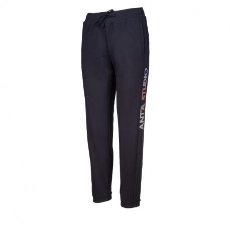Dámske tréningové nohavice ANTA-Knit Track Pants-862037312-3-Black