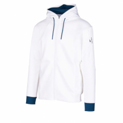 Pánska mikina so zipsom ANTA-Knit Track Top-852031710-1-White
