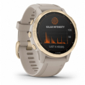 Monitor aktivity GARMIN-fenix 6S Pro Solar, Light Gold, Sand Band -
