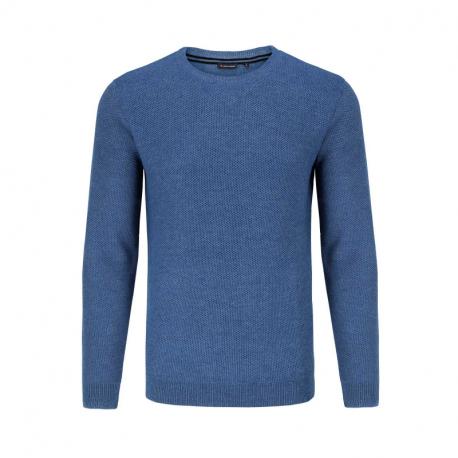 Pánsky sveter VOLCANO-S-STIM-611M-BLUE MEL