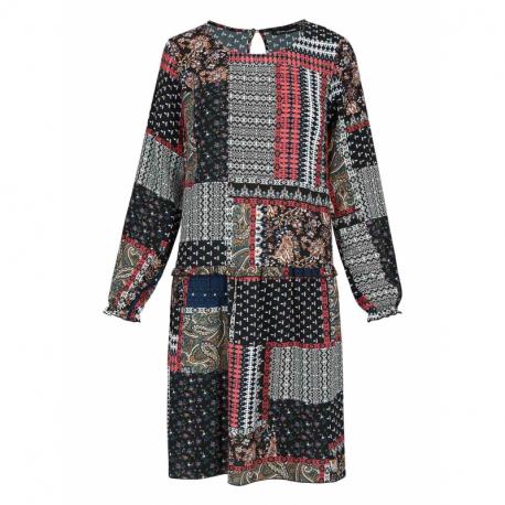 Dámske šaty VOLCANO-G-HIPPI-600-NAVY