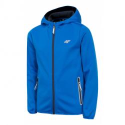 Chlapecká lyžařská softshellová bunda 4F-BOYS SOFTSHELL-HJZ20-JSFM001A-36S-COBALT