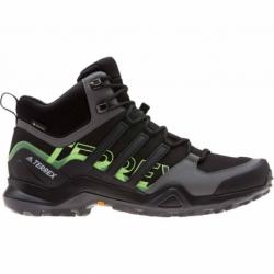 Pánska turistická obuv stredná ADIDAS-Terrex Swift R2 MID GTX cblack/cblack/siggnr