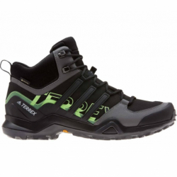 Pánská turistická obuv střední ADIDAS-Terrex Swift R2 MID GTX cblack / cblack / siggnr (EX)