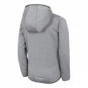 Chlapčenská turistická softshellová bunda 4F-BOYS SOFTSHELL-HJZ20-JSFM001-25M-GREY MELANGE -