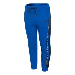 Chlapčenské teplákové nohavice 4F-BOYS TROUSERS-HJZ20-JSPMD006A-36S-COBALT