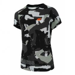 Chlapčenské tričko s krátkym rukávom 4F-BOYS T-SHIRT-HJZ20-JTSM006-90S-MULTICOLOUR