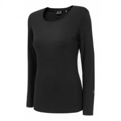 Dámske tričko s dlhým rukávom 4F-WOMENS LONGSLEEVE-NOSH4-TSDL001-20S-DEEP BLACK